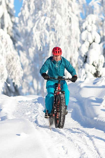 Riding a fat ebike in winter
